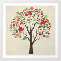 Home Birds Art Print