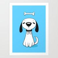 Puppy Bone Art Print
