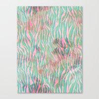 Minty Zebra Canvas Print