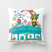 Kawaii Universe Studio Logo  Throw Pillow