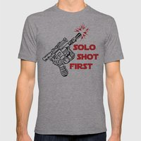 Han Shot First Mens Fitted Tee Athletic Grey SMALL