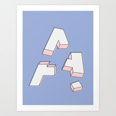 Deconstructed A Art Print