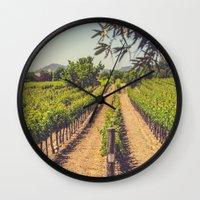 Vineyards 3 Wall Clock