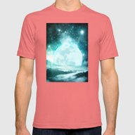 A Moon So Bright Mens Fitted Tee Pomegranate SMALL