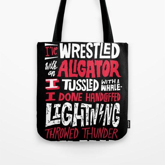 Muhammad Ali: Aligator Tote Bag