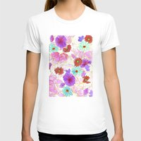 Oriental blossom Womens Fitted Tee White SMALL
