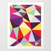 Disco Tris Art Print