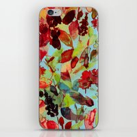 Abstract Flowers iPhone & iPod Skin