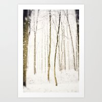 Snowy Trail Art Print