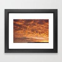 Orangeswept Sky 1 Framed Art Print