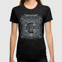 Intercept Womens Fitted Tee Tri-Black SMALL