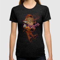 Mr. Mxyzptlk Womens Fitted Tee Tri-Black SMALL