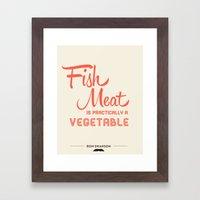 Fish Meat Framed Art Print