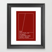Run For Your Life, Or Wa… Framed Art Print