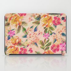 Golden Flitch (Digital Vintage Retro / Glitched Pastel Flowers - Floral design pattern) iPad Case