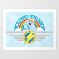 Weather Patrol Art Print