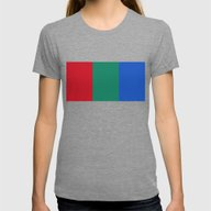 Flag Of Mars - High Qual… Womens Fitted Tee Tri-Grey SMALL
