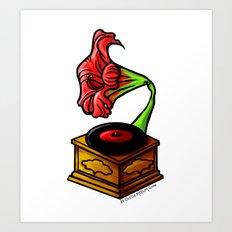 amaryllis gramophone Art Print