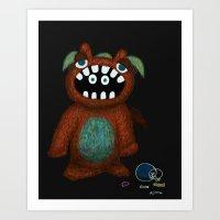 Scared Monster Art Print