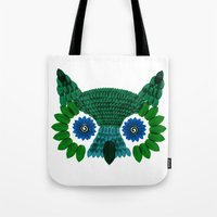 So Many Leaves = 1 Owl (Green) Tote Bag