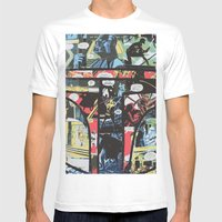Boba Fett Collage Mens Fitted Tee White SMALL
