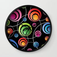 Circles In Circles. Wall Clock