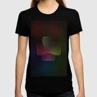 Geometrique 002 Womens Fitted Tee Black SMALL