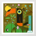 The toucan Art Print
