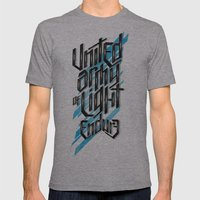 UAOL Mens Fitted Tee Athletic Grey SMALL