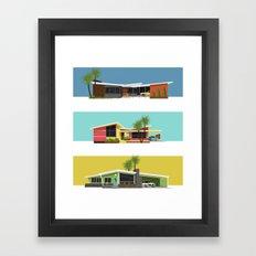 Mid Century Modern House… Framed Art Print