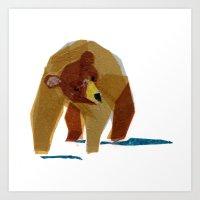 Linus Bear Art Print