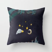 The Night Puppeteer Throw Pillow