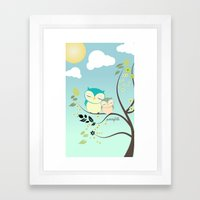 Sleeping Owls Framed Art Print