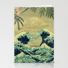 The Great Blue Embrace at Yama Stationery Cards
