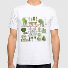 Trees Mens Fitted Tee Ash Grey SMALL