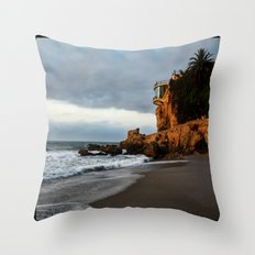 The Lookout over the Beach Throw Pillow