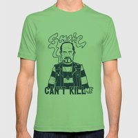Smoke Can't Kill Me Mens Fitted Tee Grass SMALL