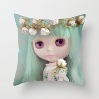 Enchanted Petal Throw Pillow