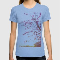 Sun-Drenched Womens Fitted Tee Athletic Blue SMALL