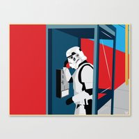 Stormtrooper Phone Home Canvas Print