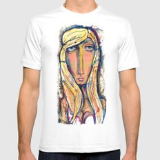 Why the long face?  SMALL Mens Fitted Tee White