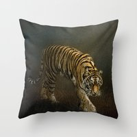 The Night Prowler Throw Pillow
