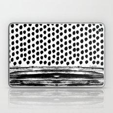 Zoe - Black and white dots, stripes, painted, painterly, hand-drawn, bw, monochrome trendy design Laptop & iPad Skin