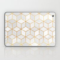White Cubes Laptop & iPad Skin