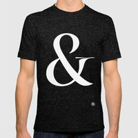 Turquoise's Ampersand Mens Fitted Tee Tri-Black SMALL