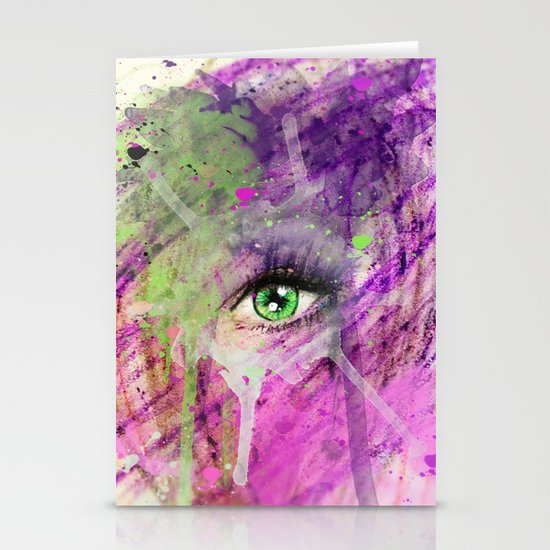 The eye of madness... Stationery Card