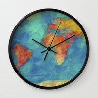 World Map Wall Clock