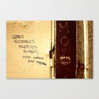 Palabras en la calle  Canvas Print