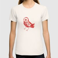 Bird X-Ray Womens Fitted Tee Natural SMALL