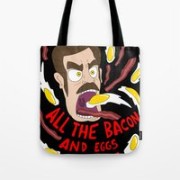 Ron Swanson: All the Bacon and Eggs You Have Tote Bag